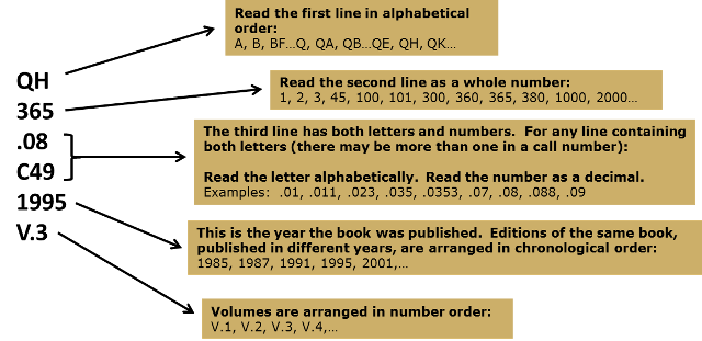 Image showing the Library of Congress call number format