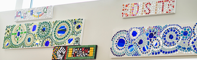 Photo of Diversity Mosaic in Rose Library