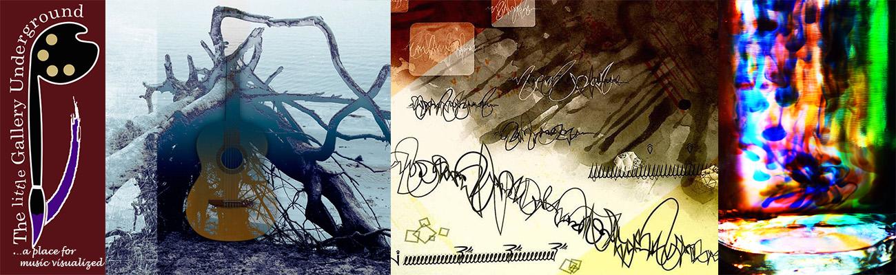 Photo collage of Little Gallery Underground exhibits