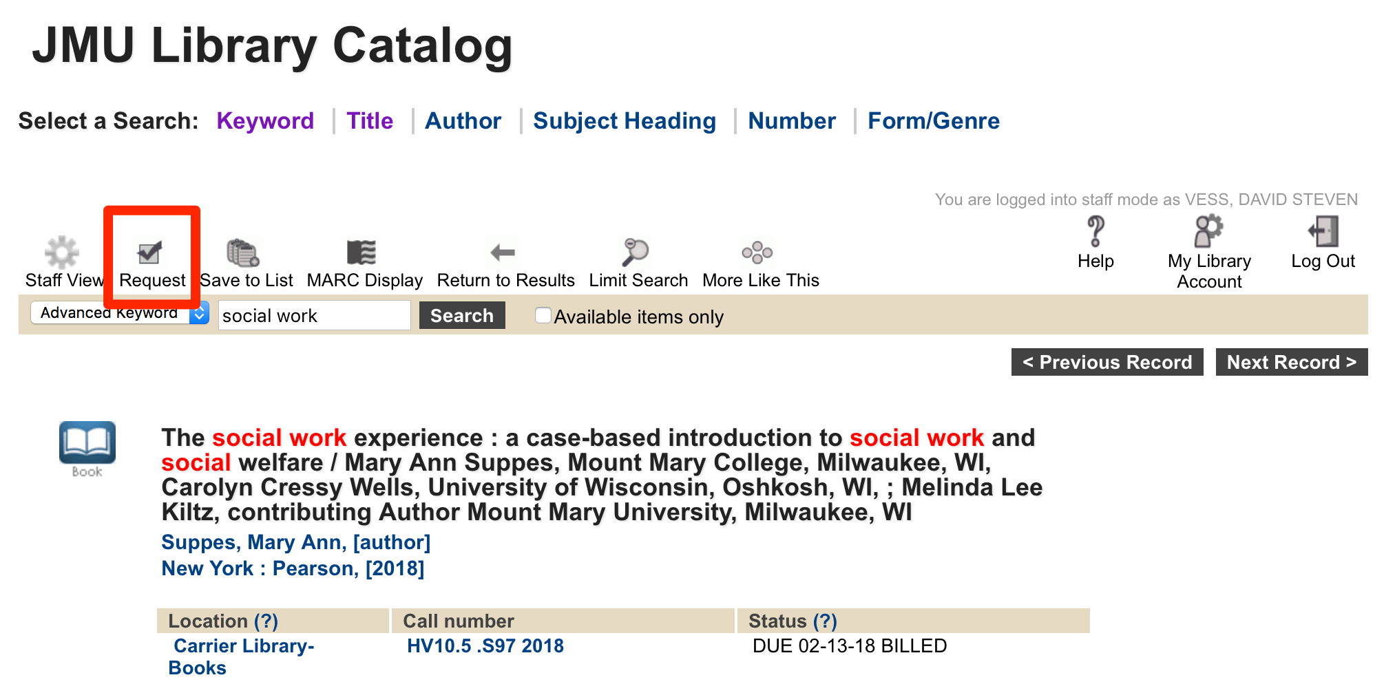 Borrow & Renew : JMU Libraries