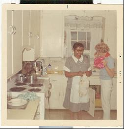 Julia Patterson in the Kitchen with a woman