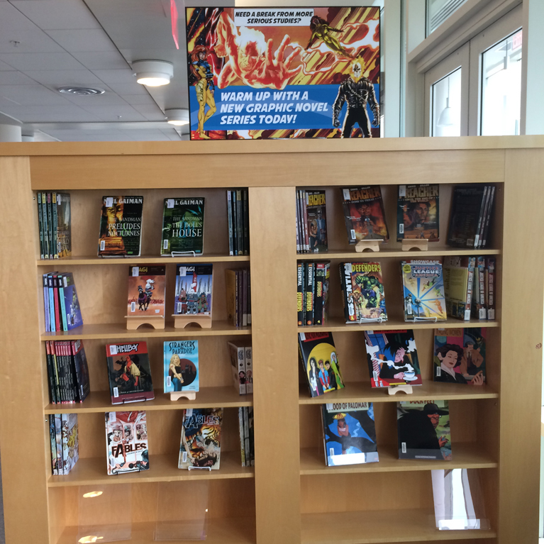 Graphic Novel Book Display