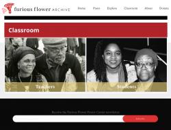 Screenshot of Furious Flower prototype website