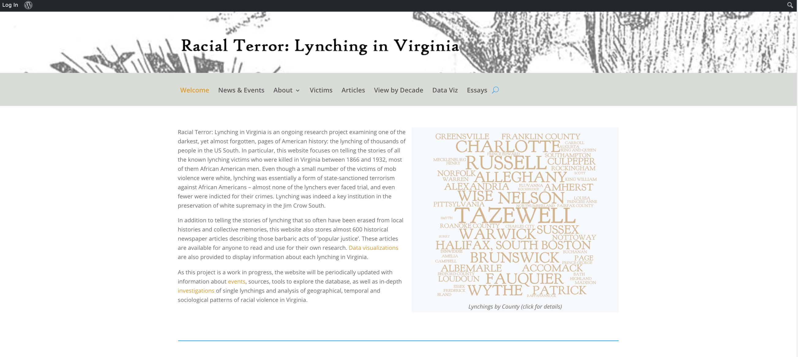 Racial Terror Project Screenshot
