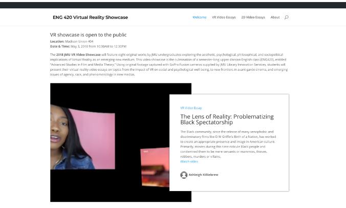 VR Showcase Screenshot