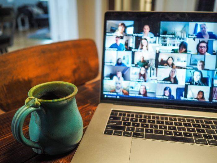 computer and mug