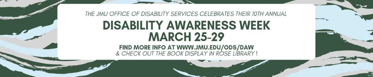 disability awareness week book display